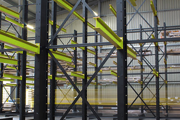 a structure of cantilever racking
